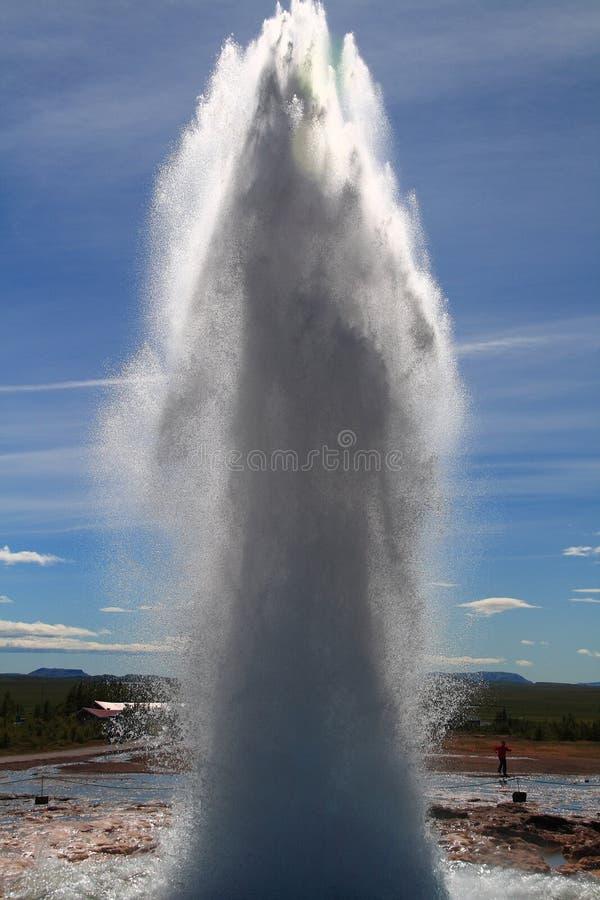 喷泉strokkur 免版税库存照片