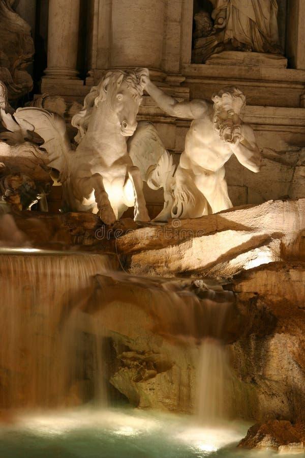 喷泉trevi 免版税库存图片