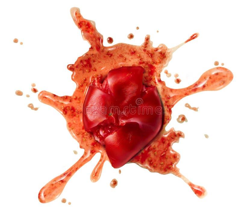 喷溅的蕃茄 库存图片
