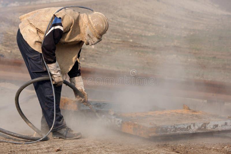 喷砂清理 图库摄影