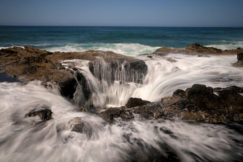 喷水嘴托尔涌出俄勒冈海岸 库存照片