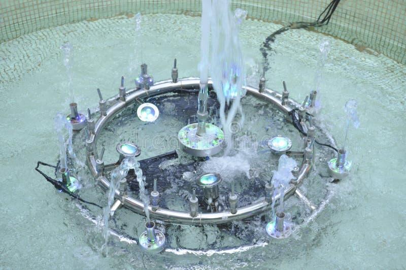 喷水的管口 免版税库存照片