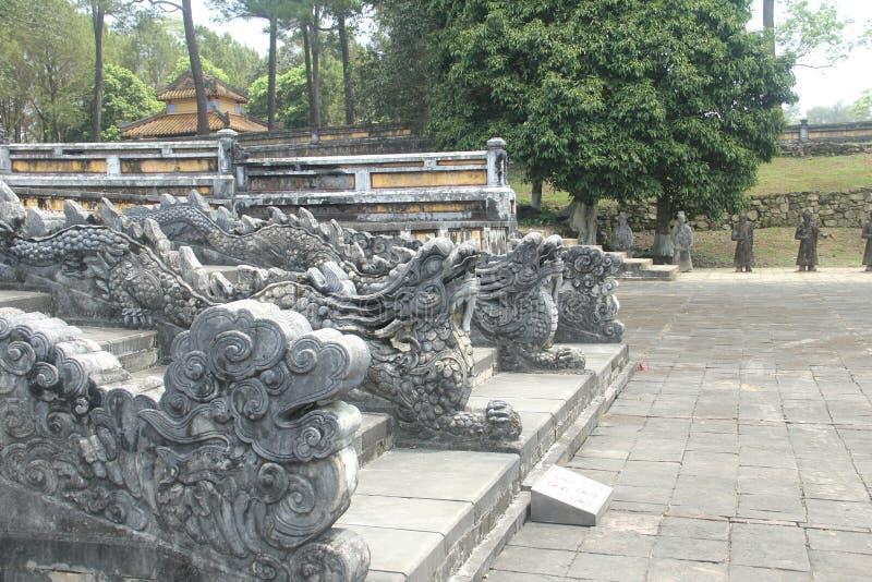 嘉隆帝国王` s坟茔,阮朝的创建者,颜色,越南 免版税库存照片