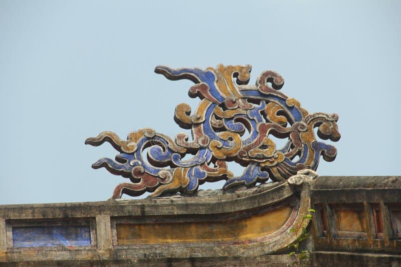 嘉隆帝国王` s坟茔,阮朝的创建者,颜色,越南 库存图片