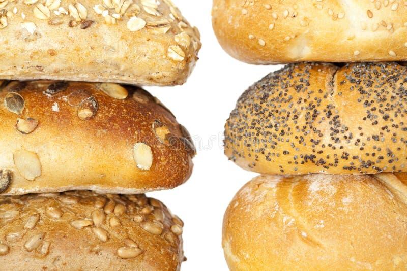 嘎吱咬嚼的小圆面包 免版税图库摄影