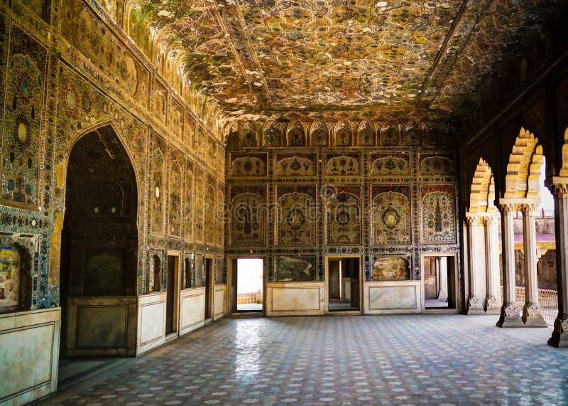 嘘拉合尔堡垒的,巴基斯坦玛哈尔宫殿 库存照片