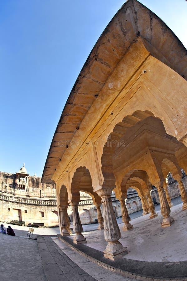 嘘玛哈尔(镜子宫殿)琥珀色的堡垒的,斋浦尔 库存照片