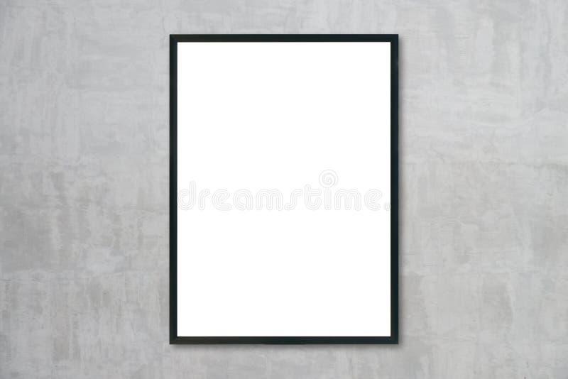 嘲笑垂悬在墙壁上的空白的框架在屋子里 免版税库存照片