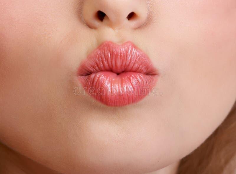 嘴唇妇女 库存照片