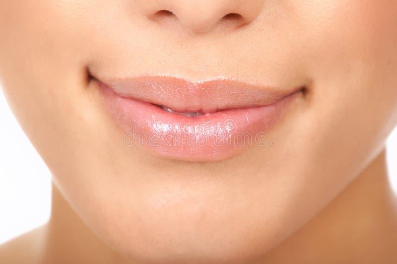 嘴唇妇女 免版税图库摄影