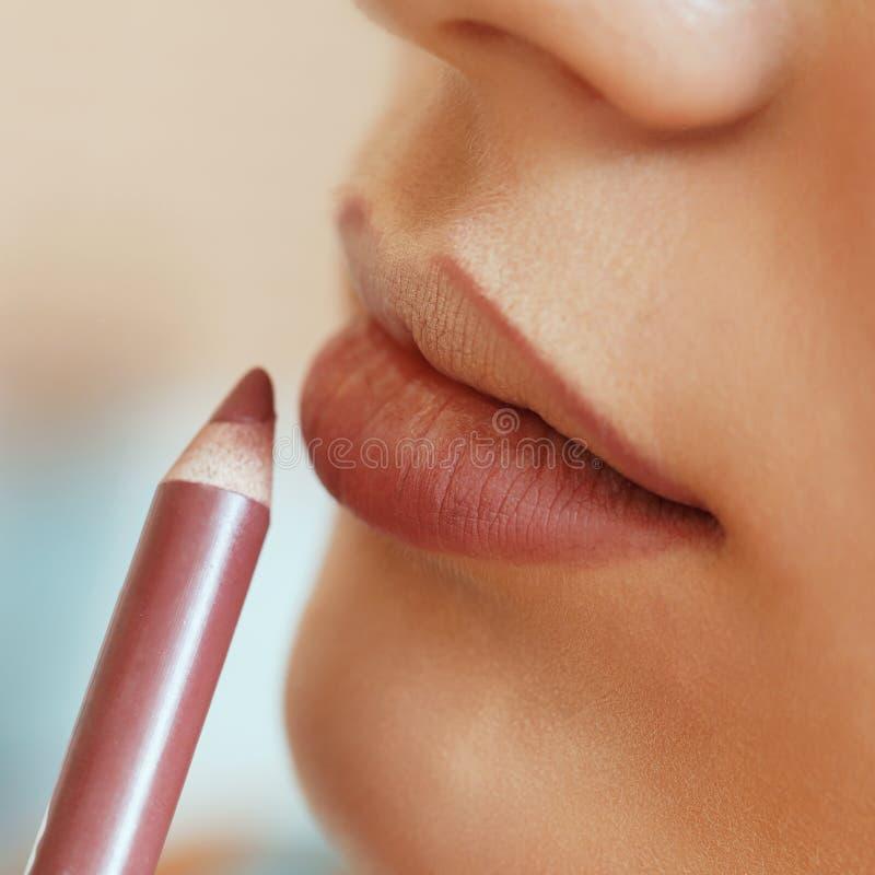 嘴唇构成的过程 库存照片