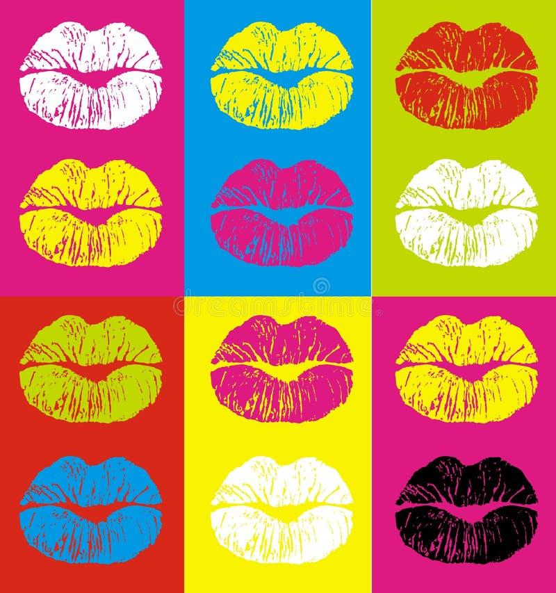 嘴唇 向量例证