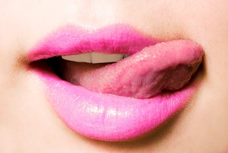 嘴舌头 库存图片