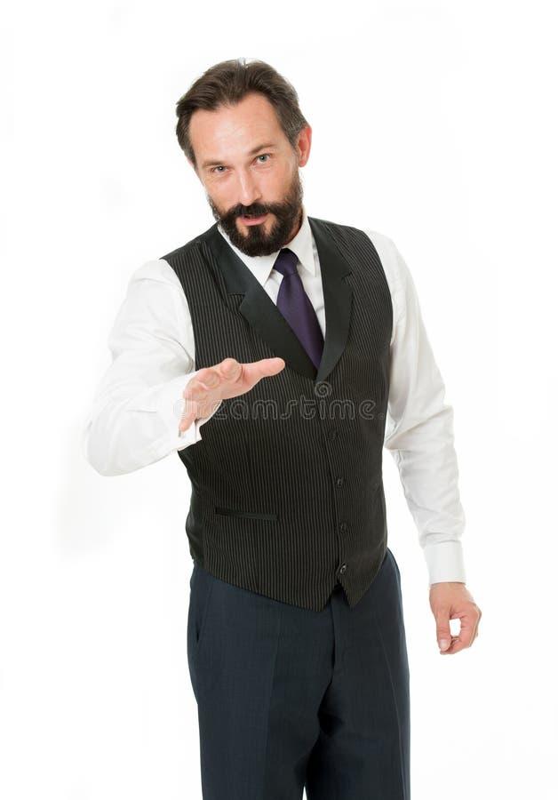 嘿您听我 我将告诉您一些有趣的信息 企业行为一定确信 事务 免版税库存照片