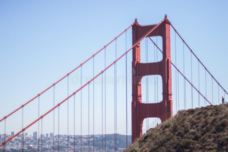 噢!金门,我的朋友,旧金山 库存图片