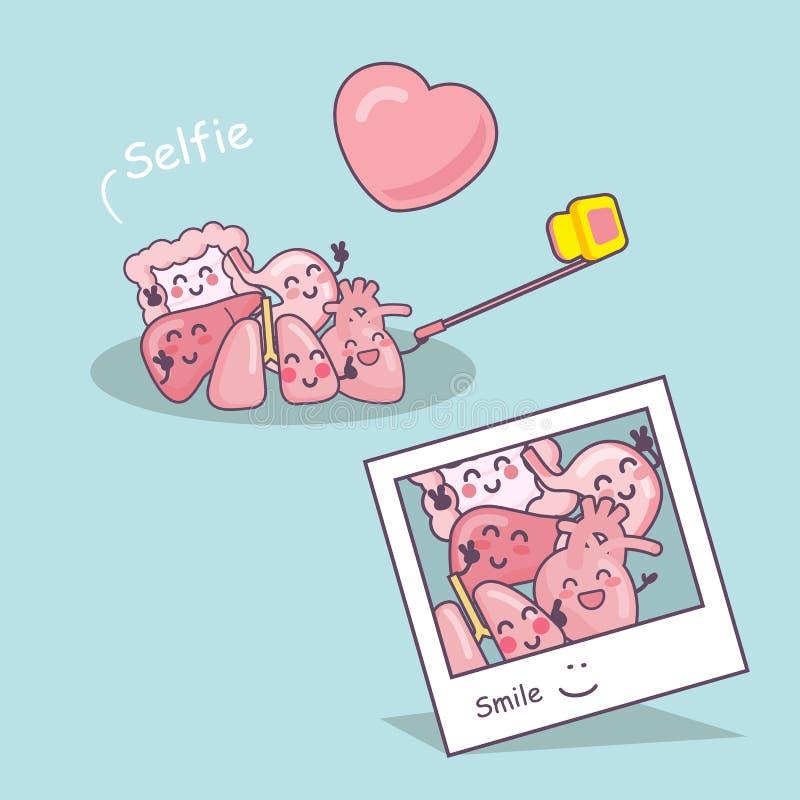 器官动画片作为selfie 皇族释放例证