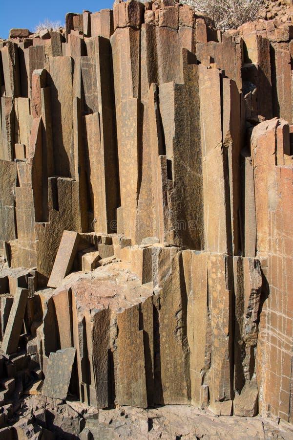 `器官管`地质特点,纳米比亚 免版税图库摄影