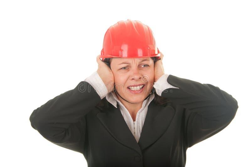 Download 噪声保护妇女 库存照片. 图片 包括有 困难, 人员, 女孩, 建筑, 建筑师, 教育, 显示, beautifuler - 22357288