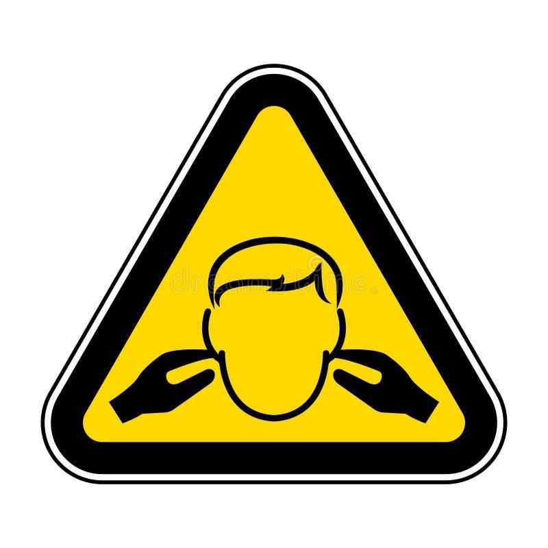噪声标志在白色背景,传染媒介例证EPS的标志孤立 10 向量例证