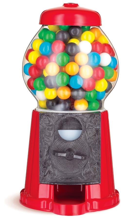 嚼五颜六色的分配器胶gumball设备 库存图片
