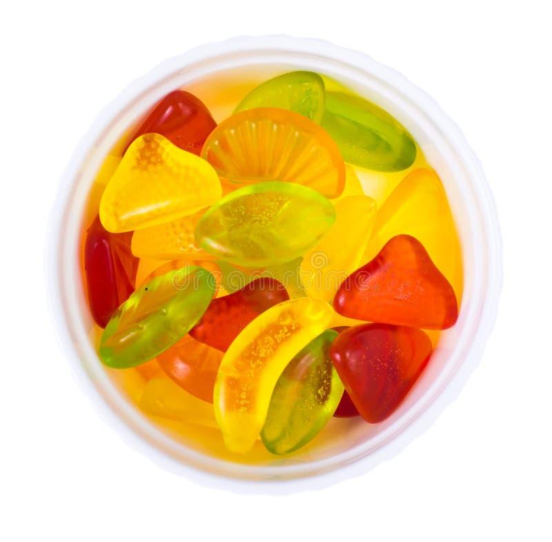 嚼果子色的果冻 免版税库存照片