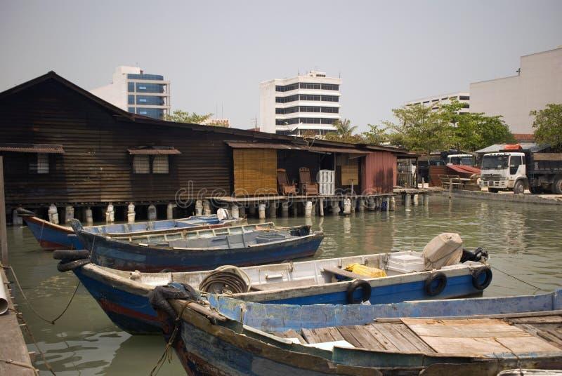 嚼跳船,乔治城,槟榔岛,马来西亚 免版税库存图片