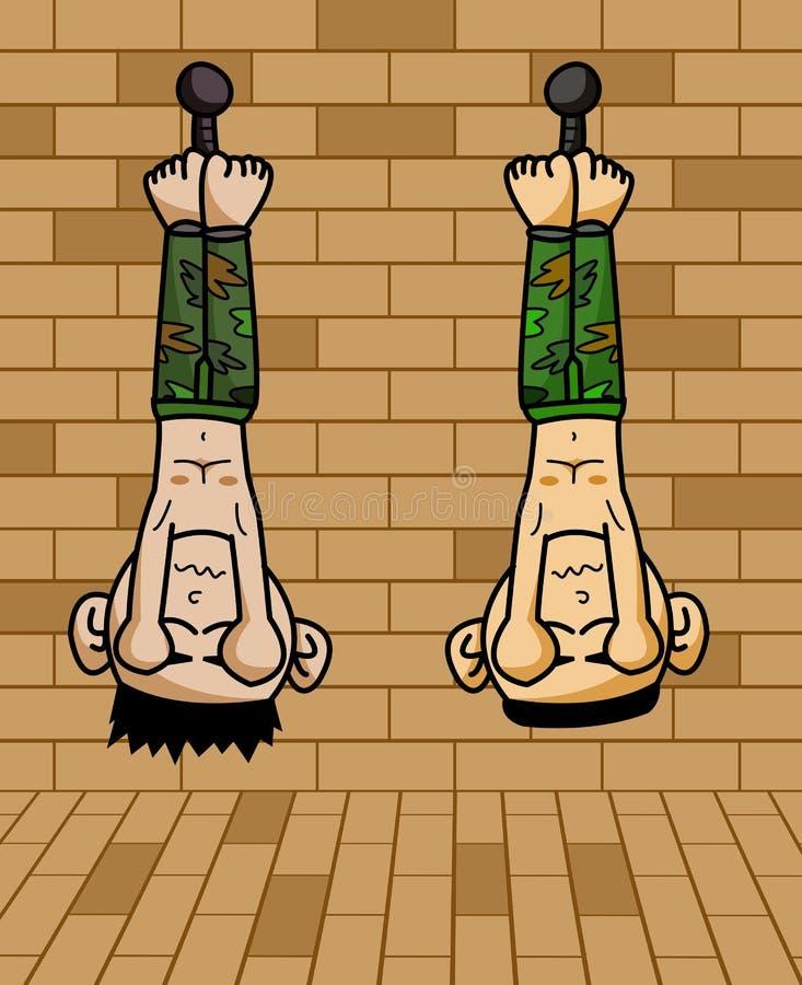 囚犯军队动画片例证 库存例证
