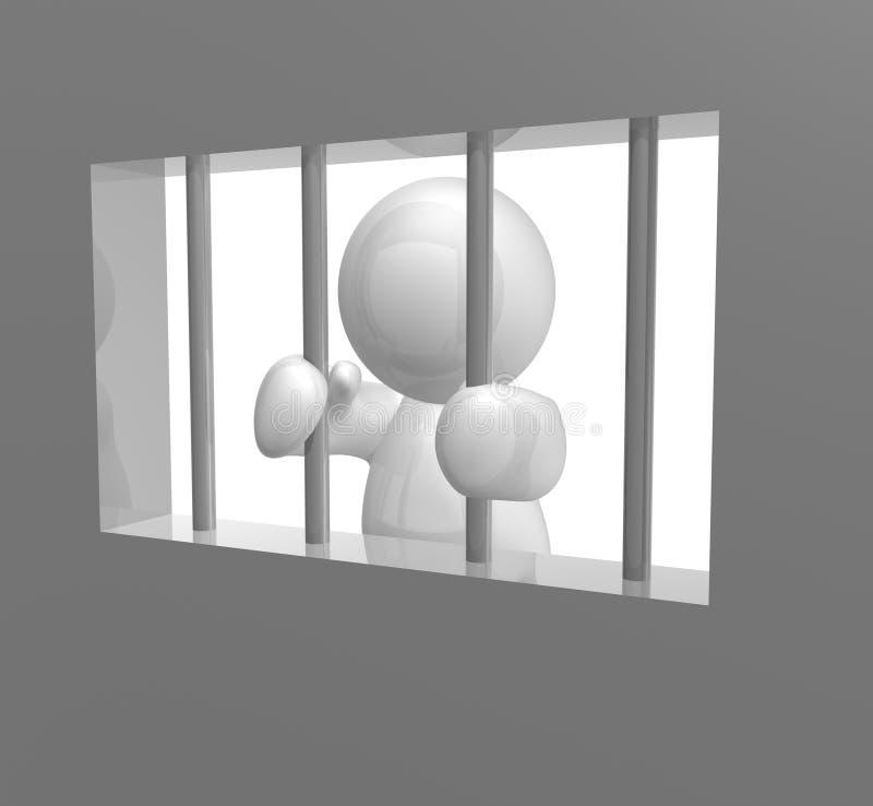 囚犯战争 向量例证