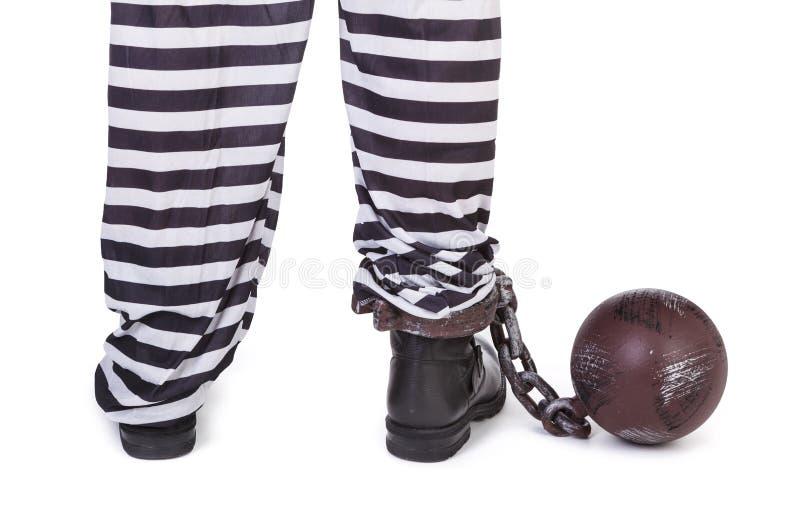 囚犯的行程 库存图片