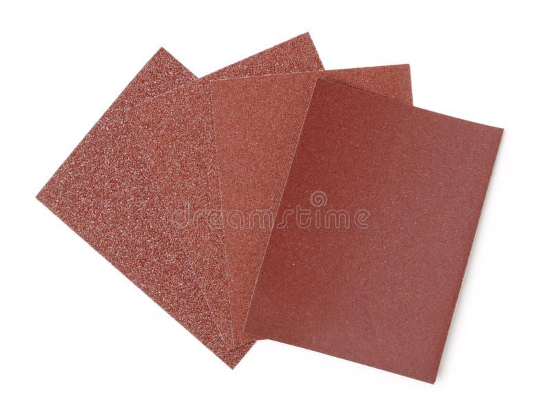四不同沙粒沙纸 免版税库存照片
