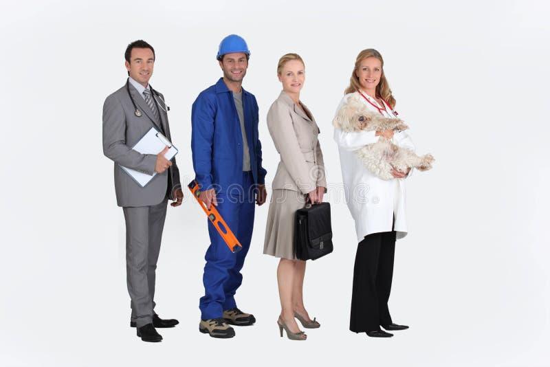 四个专业人员 免版税图库摄影
