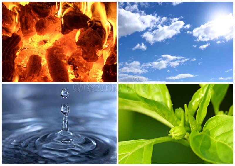 四个元素 免版税库存照片