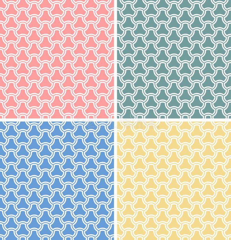 四个几何模式无缝的集向量 皇族释放例证