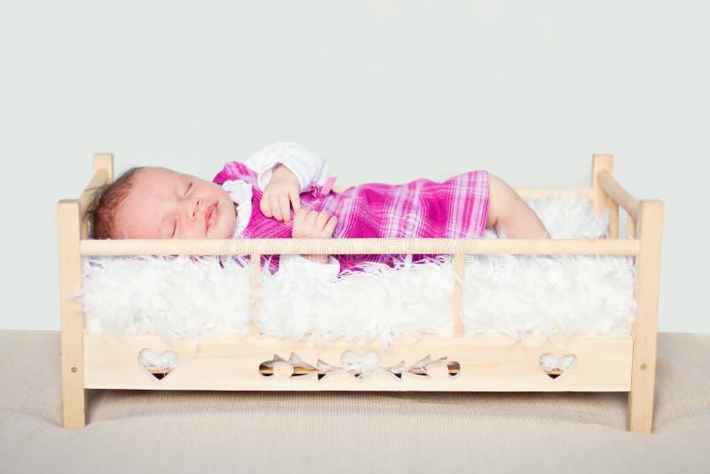 四个几星期年纪婴孩的画象 免版税库存照片
