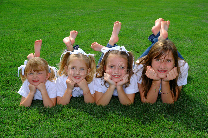 四个姐妹 免版税库存图片