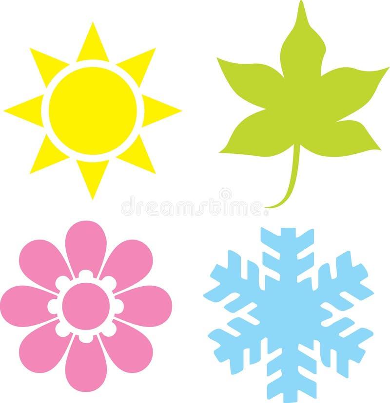 四个季节 库存例证