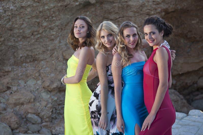四个性感的女孩 免版税库存照片