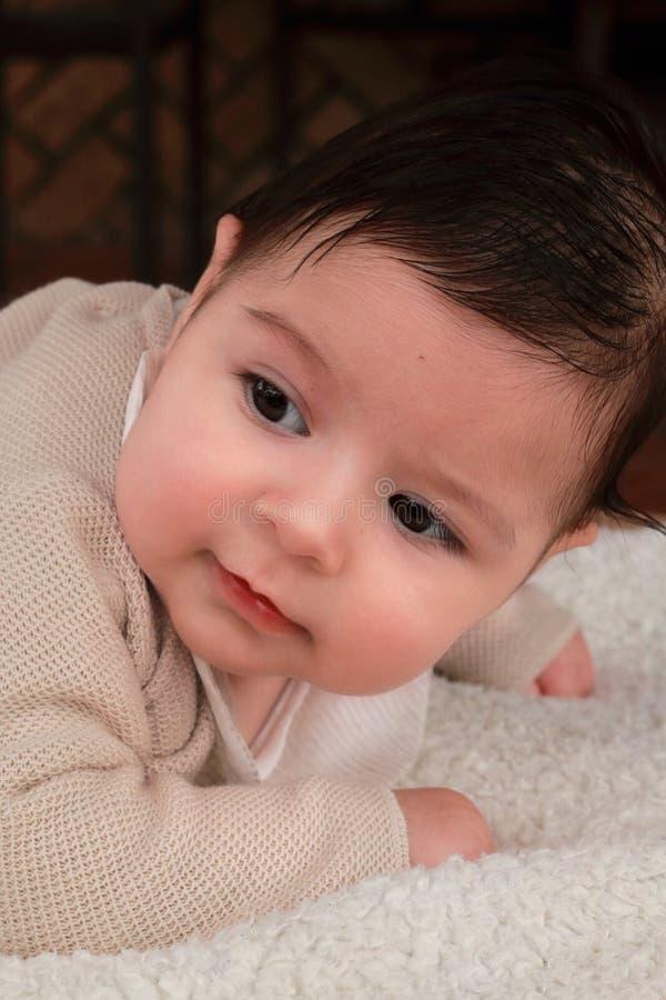 四个月的男婴 免版税库存照片