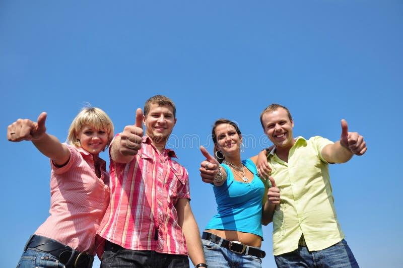 四个朋友组 免版税库存照片