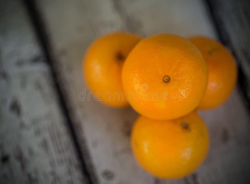 四个桔子 库存照片