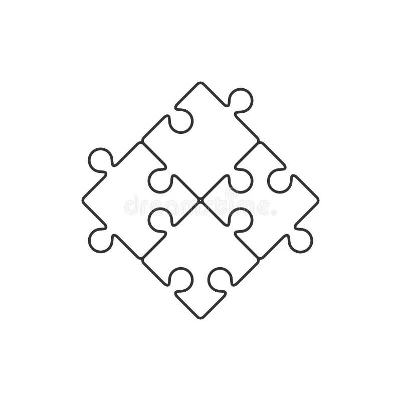 四个片断难题线象 皇族释放例证
