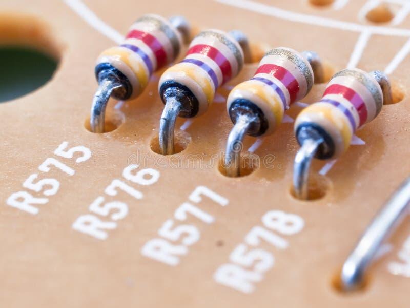 四个电阻器 库存图片