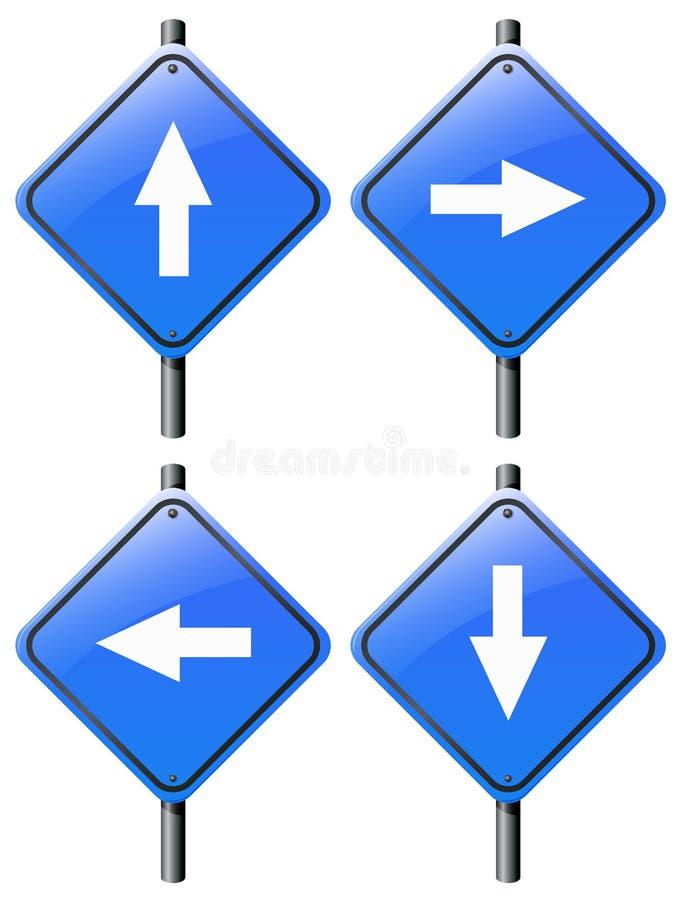 四个箭头标志 皇族释放例证