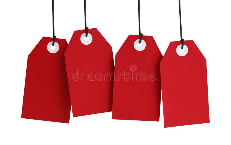 四个红色标记 免版税库存照片