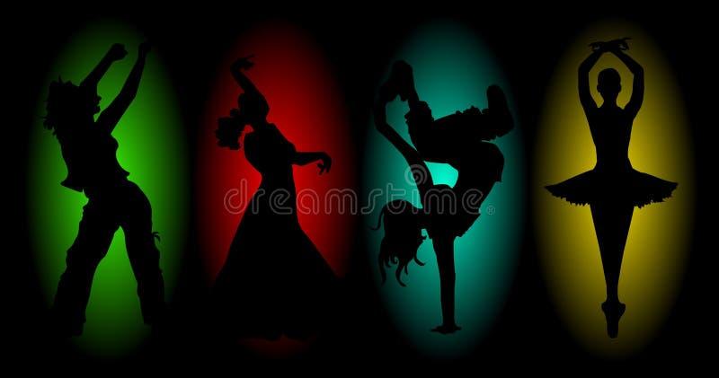 四个舞蹈 库存例证