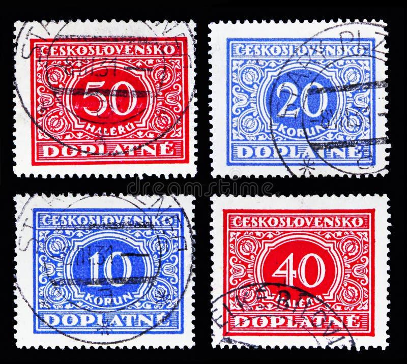 四个邮票展示徽章,全国徽章s 免版税图库摄影