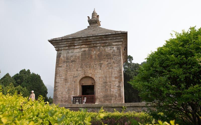 四个门在中国耸立,最旧的塔 库存照片