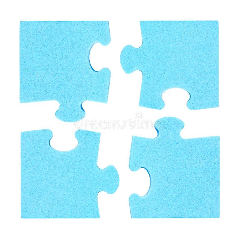 四个难题片断结合了合作概念 免版税库存照片