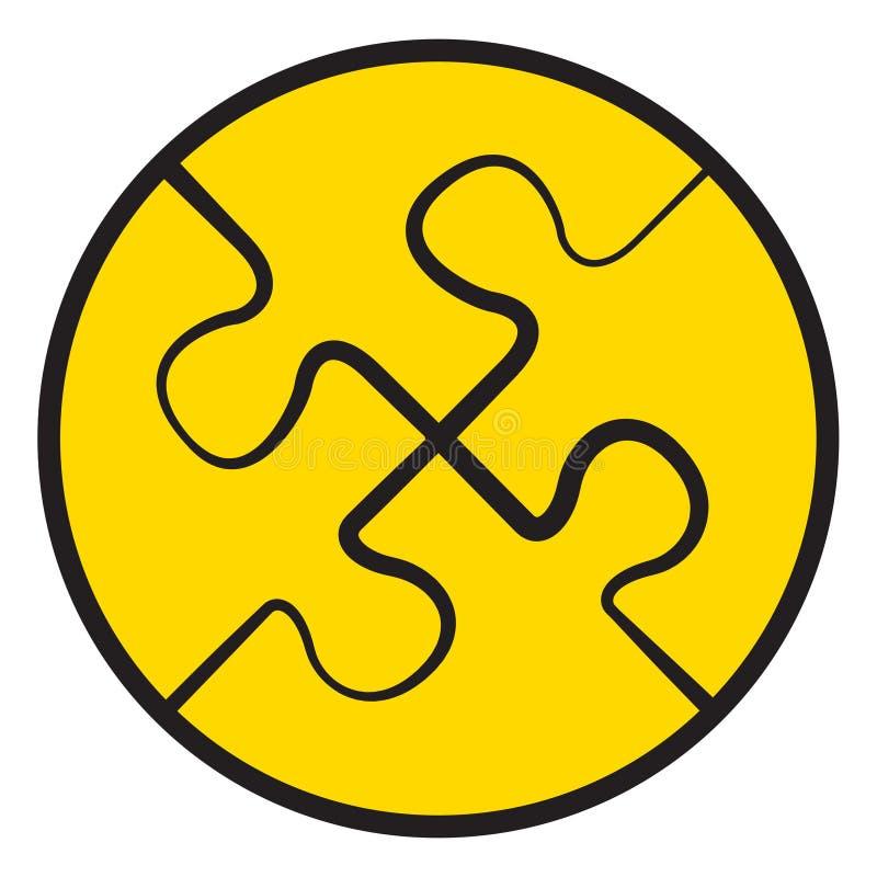 四个难题 上色火焰集合符号向量 库存例证