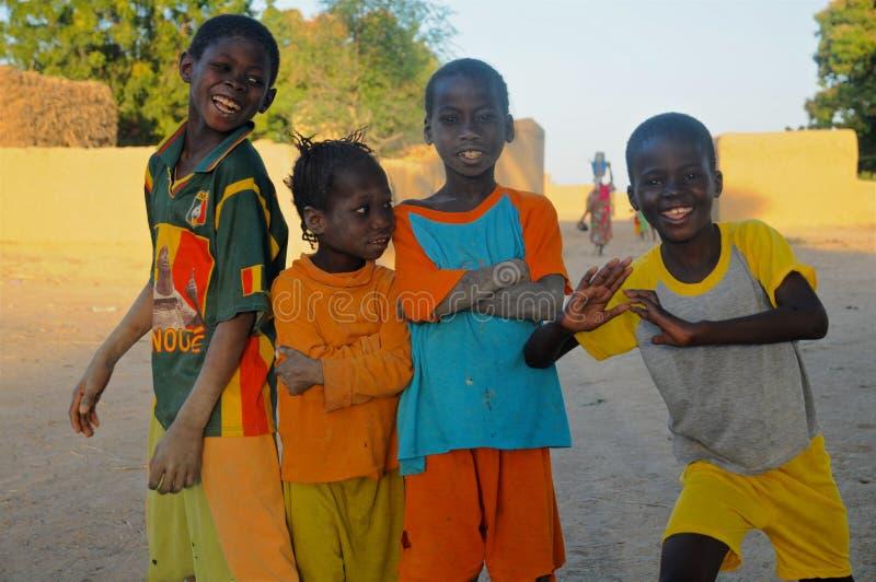 四个非洲朋友 库存照片